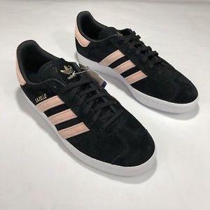 Adidas Originals: W Gazelle Velvet Black/Pink